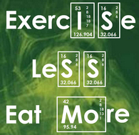Yes! Exercise Less, Eat More!  At Inside Outside!